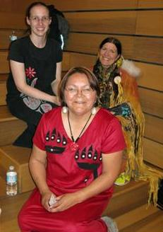 Event organizers Christie Harvie (L), Karen White (R) and Patricia Watts (centre) of MARR's Aboriginal Relations Committee
