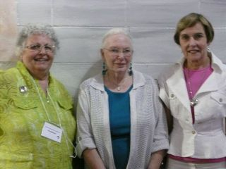 Gail Harmer, Sheila Pither and Sylvia MacLay from the Council of Seniors Citizens' Organizations of British Columbia