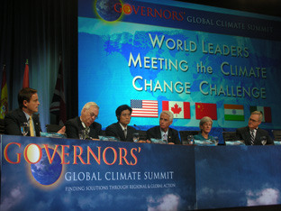 Minister Barry Penner (left) at the Governors' Global Climate Summit
