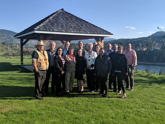 Canada's Minister of Foreign Affairs, Chrystia Freeland with Columbia Basin Indigenous Leaders in Castlegar.