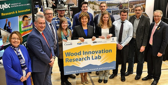 Canada and British Columbia invest in Wood Innovation Research Lab at UNBC