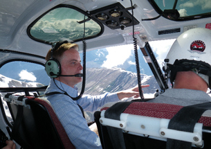 Minister Checks Out Huge Mountain Slide 57 Kilometres Northwest of Pemberton