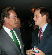 Minister Barry Penner and California Governor Arnold Schwarzenegger